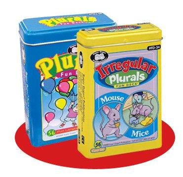 Super Duper Publications Plurals & Irregular Plurals Fun Deck Flash Cards Combo Educational Learning Resource for Children by Super Duper Publications
