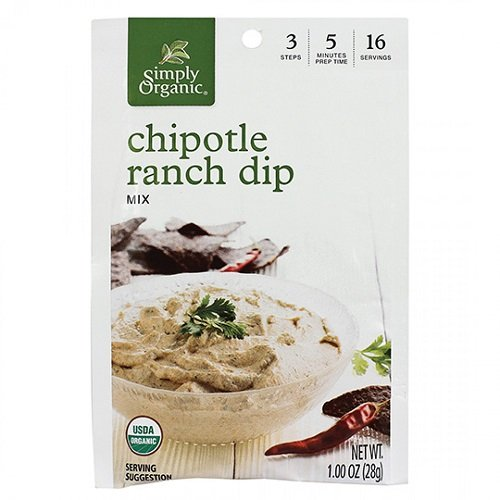 Simply Organic Mix Dip Chipotle Ranch, 1 (Chipotle Ranch Dip Mix)