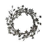 Heart of America Round Cardboard Glitter Star Wreath Silver Finish - 2 Pieces