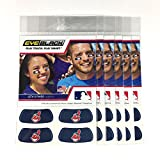 (24 Strips) Eye Black - Cleveland Indians Blue MLB Eye Black Anti Glare Strips, Great for Fans & Athletes on Game Day