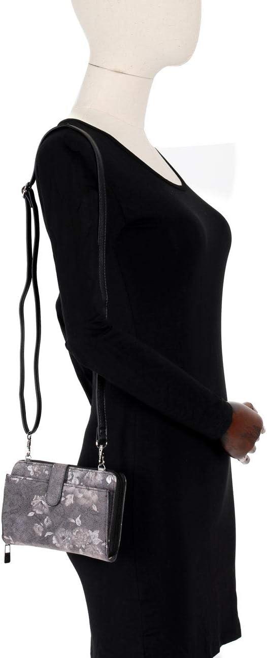 KARLA HANSON Leah Womens RFID Blocking Crossbody Phone Wallet