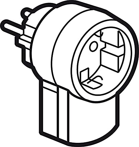 Schutzkontakt-Stecker mit Steckdose Legrand 050462 16A//230V mit Kabelanschluss bis 3x1.5 mm/²