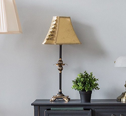 Completely new Shabby Chic Table Lamp French Vintage Style Tall Fabric Large  EB74