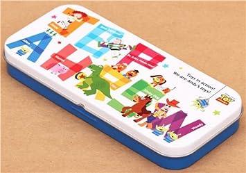 Estuche lápices caja lata personajes Toy Story ABC de Japón ...