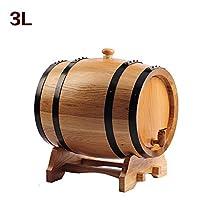L&QQ 3L liters Oak Wine Barrel Dispenser No Liner with Stand , log grey resin mouth
