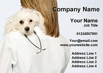 Vet Veterinario Practicar Perro Tarjetas De Visita Personalizadas