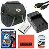 Intermediate Accessory Kit for Canon PowerShot SX500 IS SX510 HS Digital Camera - Includes NB6L NB6LH Battery & Charger + 16GB SD Memory Card + Deluxe Carrying Case + Mini HDMI + More!!