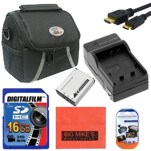 Intermediate Accessory Kit for Fuji FinePix X100 X100S X-S1 Digital Camera - Includes NP95 Battery & Charger+ 16GB SD Memory Card + Deluxe Carrying Case + Mini HDMI + More!! by Big Mike's