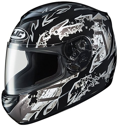 HJC CS-R2 Skarr Full Face Motorcycle Helmet - MC-5 Black, X-Large