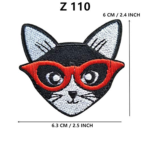 - Xuuaiq Dog Husky Embroidery Patches for Clothing DIY Stripes Cat Appliques Clothes Stickers Animals Iron On Badges @U28