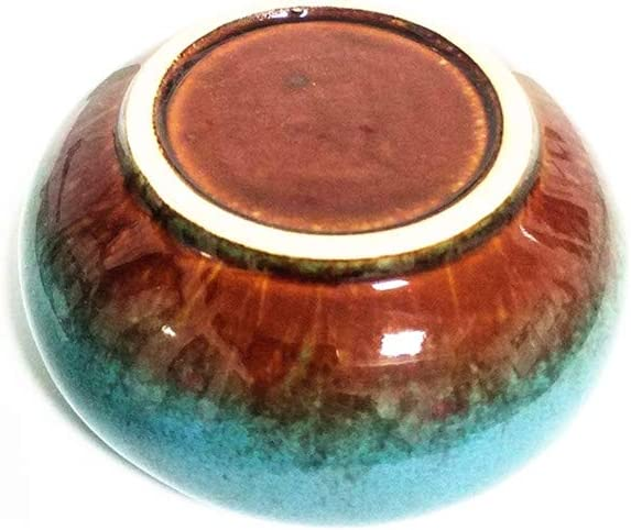 YDYX Home Aschenbecher aus Keramik mit Deckel Winddicht Asche-Halter f/ür Raucher Schreibtisch Rauchen f/ür Zuhause und B/üro blau