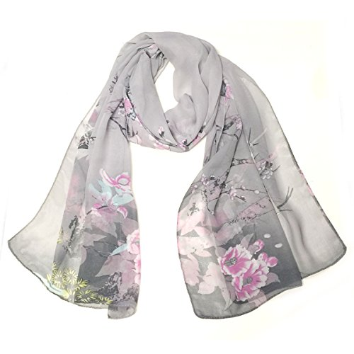 Wrapables Floral Print Polyester Oblong