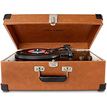 Crosley CR6249A-TA Keepsake Portable USB Turntable with Software for Ripping & Editing Audio, Tan
