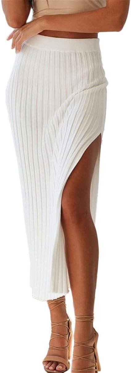 Faldas Mujer Verano Sexy Stripe Bag Hip Falda Side Raja Falda 2019 ...