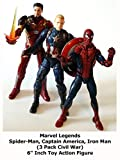 Review: Marvel Legends Spider-Man, Captain America, Iron Man (3 Pack Civil War) 6
