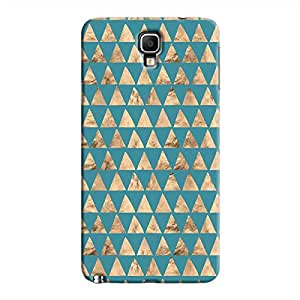 Cover It Up - Brown Blue Triangle Tile Galaxy Note 3 Neo Hard Case