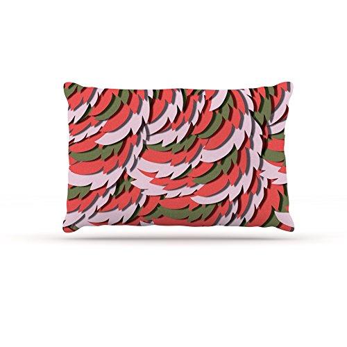 Kess InHouse Akwaflorell Wings III  Fleece Dog Bed, 50 by 60 , Red Brown