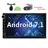 Eincar Android 7.1 Nougat in Dash 7 inch Double din Car Stereo with GPS Navigation Autoradio Bluetooth Car Player Front & Reverse Camera Headunit Support Wifi/4G Mirror Link USB/SD Subwoofer