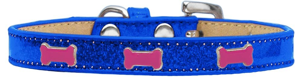 bluee Size 12 bluee Size 12 Mirage Pet Products 633-3 BL12 Pink Bone Widget Dog Collar bluee Ice Cream, Size 12