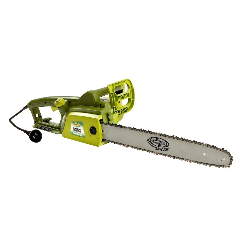 6. Sun Joe SWJ701E 18 Inch Electric Chainsaw