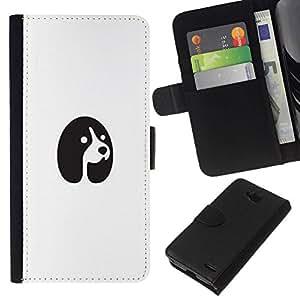 All Phone Most Case / Oferta Especial Cáscara Funda de cuero Monedero Cubierta de proteccion Caso / Wallet Case for LG OPTIMUS L90 // un perro