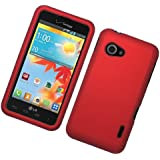 Eagle Cell Rubber Protector Case for LG Enact/VS890 - Retail Packaging - Red
