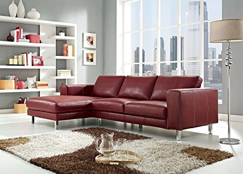 Creative Furniture Anika Sectional Left Facing Chaise, Red