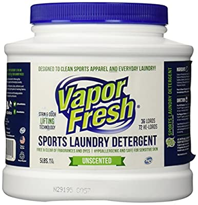 Vapor Fresh® Laundry Detergent Powder, HE-safe, Free and Clear, No Scent, 5 Pounds