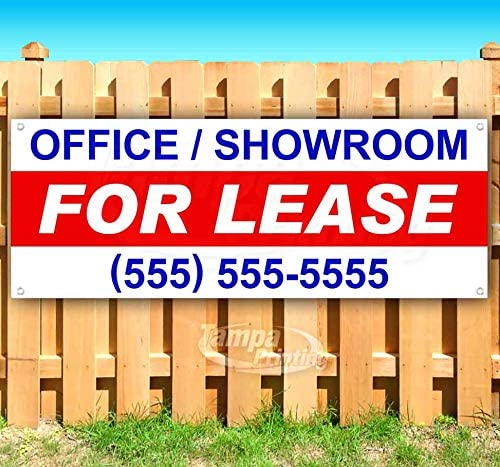 Flag, Store New Office//Showroom for Lease 13 oz Heavy Duty Vinyl Banner Sign with Metal Grommets Advertising Many Sizes Available