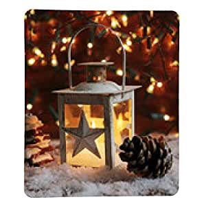 alfombrilla de ratón Linterna y luces de Navidad encendidas en la oscuridad - rectangular - 23cm x 19 cm