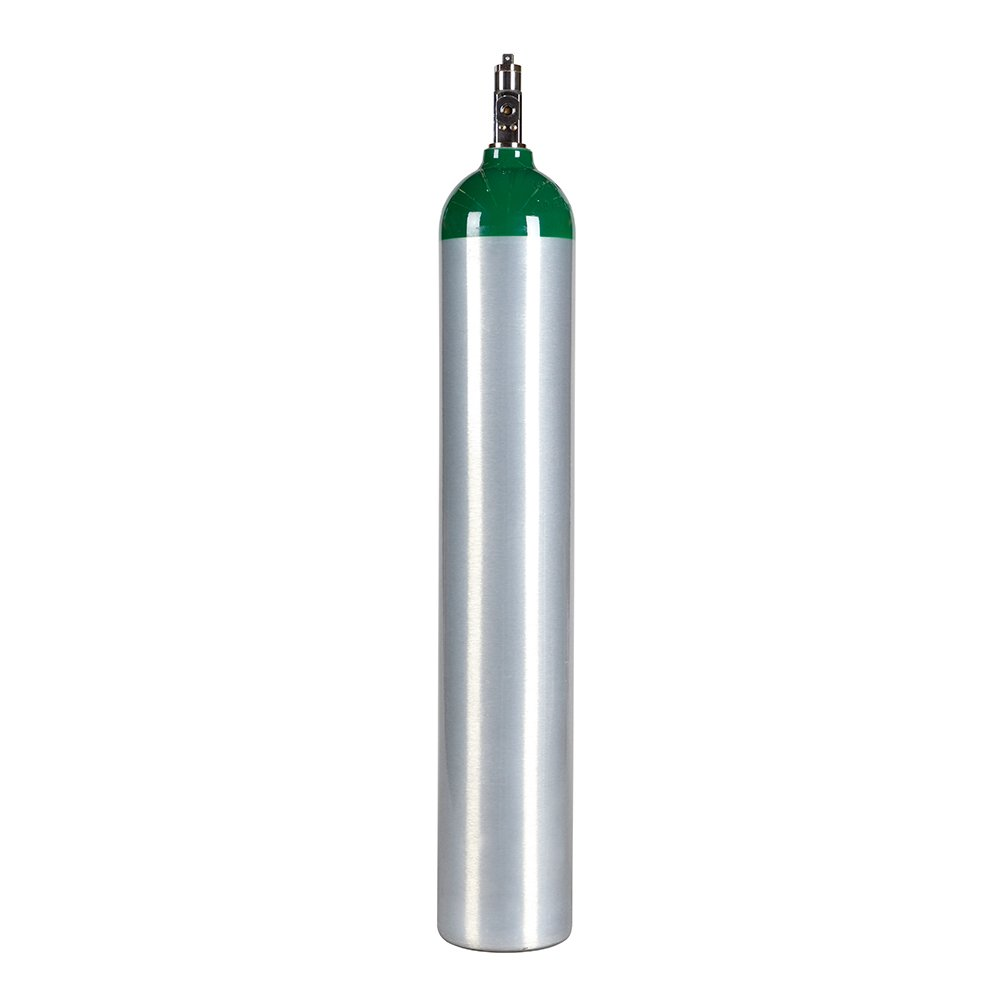 Medical Oxygen Cylinder with CGA870 Post Valve - E Size 24.1 cf (ME) Varies