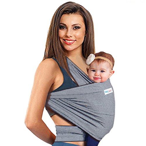 4-in-1 Babytragetuch | Babytrage für Männer und Frauen | Baby Wrap Sling | Tragetuch | Tragehilfe - Das beste Geschenk für Baby Shower von BabyCakes (grau)