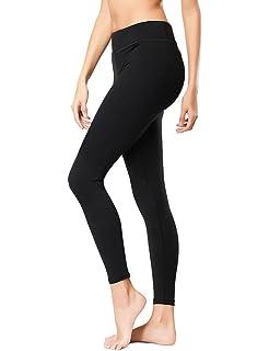 eb3005d208474 KUBEER Yoga Pants Yoga Capris Leggings Workout Running Sports Tummy Control  Shapewear Black
