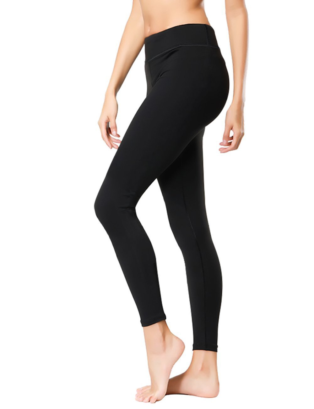 44758217f563fc Amazon.com: KUBEER Yoga Pants Yoga Capris Leggings Workout Running Sports Tummy  Control Shapewear Black: Sports & Outdoors