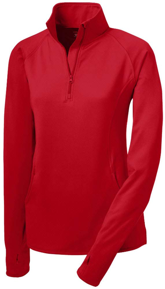 the latest 986e8 58b96 Joe s USA Ladies Moisture Wicking Stretch 1 2-Zip Pullover Sweatshirts.  Sizes XS-4XL