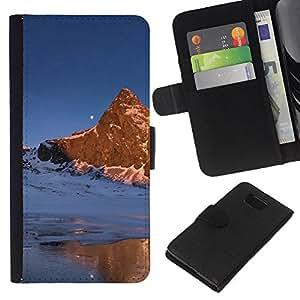 EJOY---La carpeta del tirón la caja de cuero de alta calidad de la PU Caso protector / Samsung ALPHA G850 / --Naturaleza Hermosa Forrest Verde 169