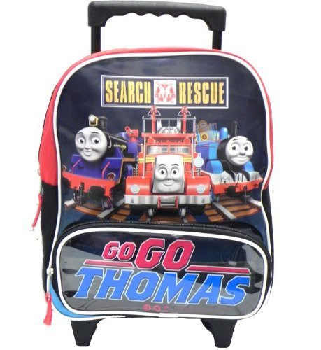"""Thomas the Train 12"""" Toddler Rolling Backpack and Tumbler and Wallet Set"""