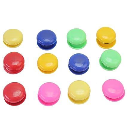 merssavo - Lote de 24 botones imanes para pizarra de ...