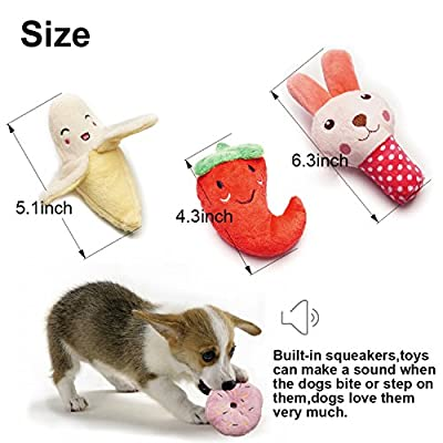SZKOKUHO-9-Pack-Puppy-Squeaky-Plush-Dog-Toys-Set-for-Small-Dogs-to-Bite-AnytimeVariety-Colors-Categories