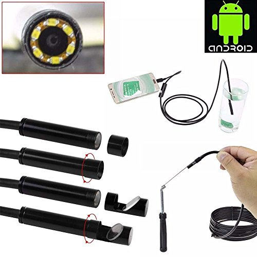 Endoscope Camera, Youzel Borescope Waterproof Inspection Camera for Laptops and Micro USB OTG Compatible With Android Smartphones Samsung S4 S5 S6 S7 Note 4 5 HTC M7 M8 M9
