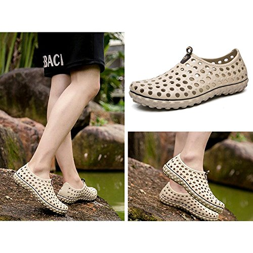 Summer Khaki Eastlion Shoes Quick Men's Cool Mesh Drying Massage Sandals Water Garden Breathable Shoes Hole Bottom aawqStZ