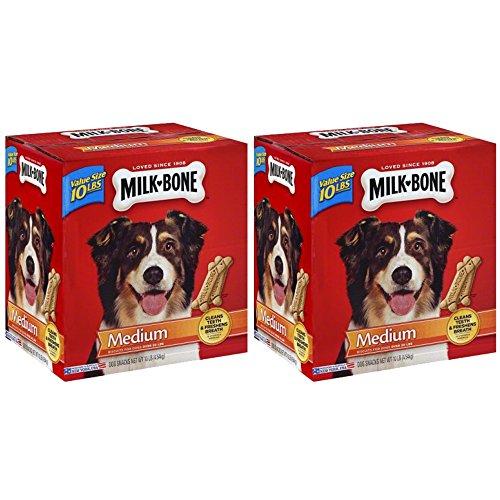 .Milk-Bone Original Dog Treats for Medium Dogs, 10-Pound, 2-