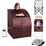 Portable 2L Steam Sauna with Chair - Coffee