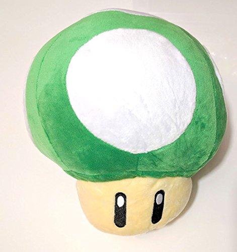 Super Mario Brothers Green Mushroom 8-inch Plush by ToyKingToys ()