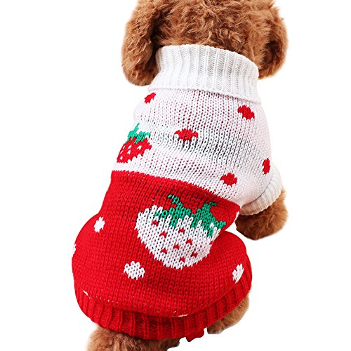 Brave Tour Dog Winter Pet Clothes Sweater Two Legs (XS, Red)
