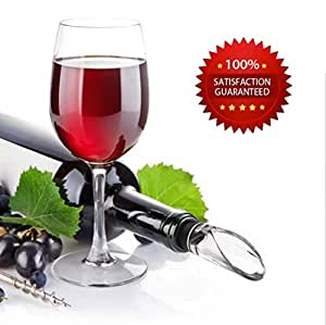 Wine Chiller: 4-in-1 Stainless Steel Iceless Wine Chiller Stick with Aerator and Pourer.