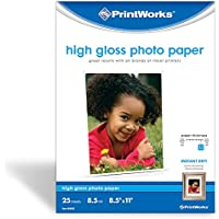 Printworks Premium Glossy 8 1/2 x 11 Inch Photo Paper 25 Sheets (00468)