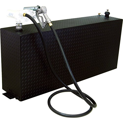RDS Aluminum Vertical Transfer Tank/Auxiliary Fuel Tank - 90-Gal. Capacity, Black Diamond Plate, Model# 73200PC (Truck Tank Pickup Fuel Auxiliary)