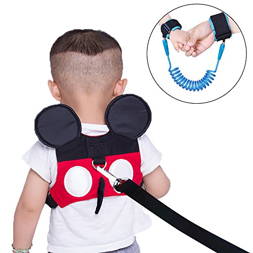 Baby Safety Walking Toddler Anti-Lost Belt Harness Backpack Toddler Anti-Lost Backpack Belt with Safety Leash Mini Strap for Boys and Girls QE00-2 Backpack