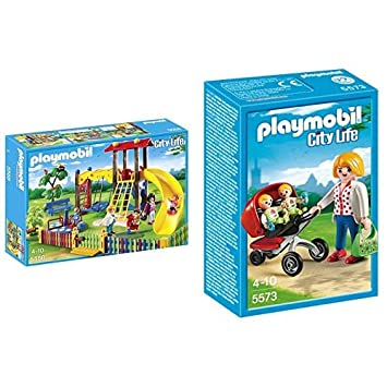 Playmobil 5568 - Kinderspielplatz &  9270 - Fröhliches Kinderzimmer